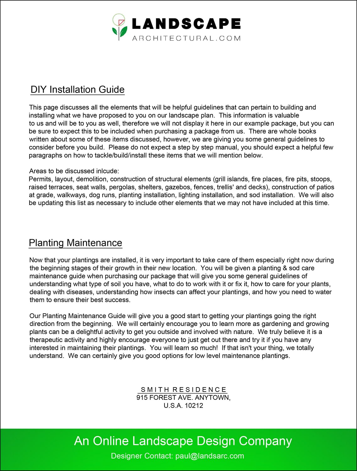 Maintenance and Installation Guide