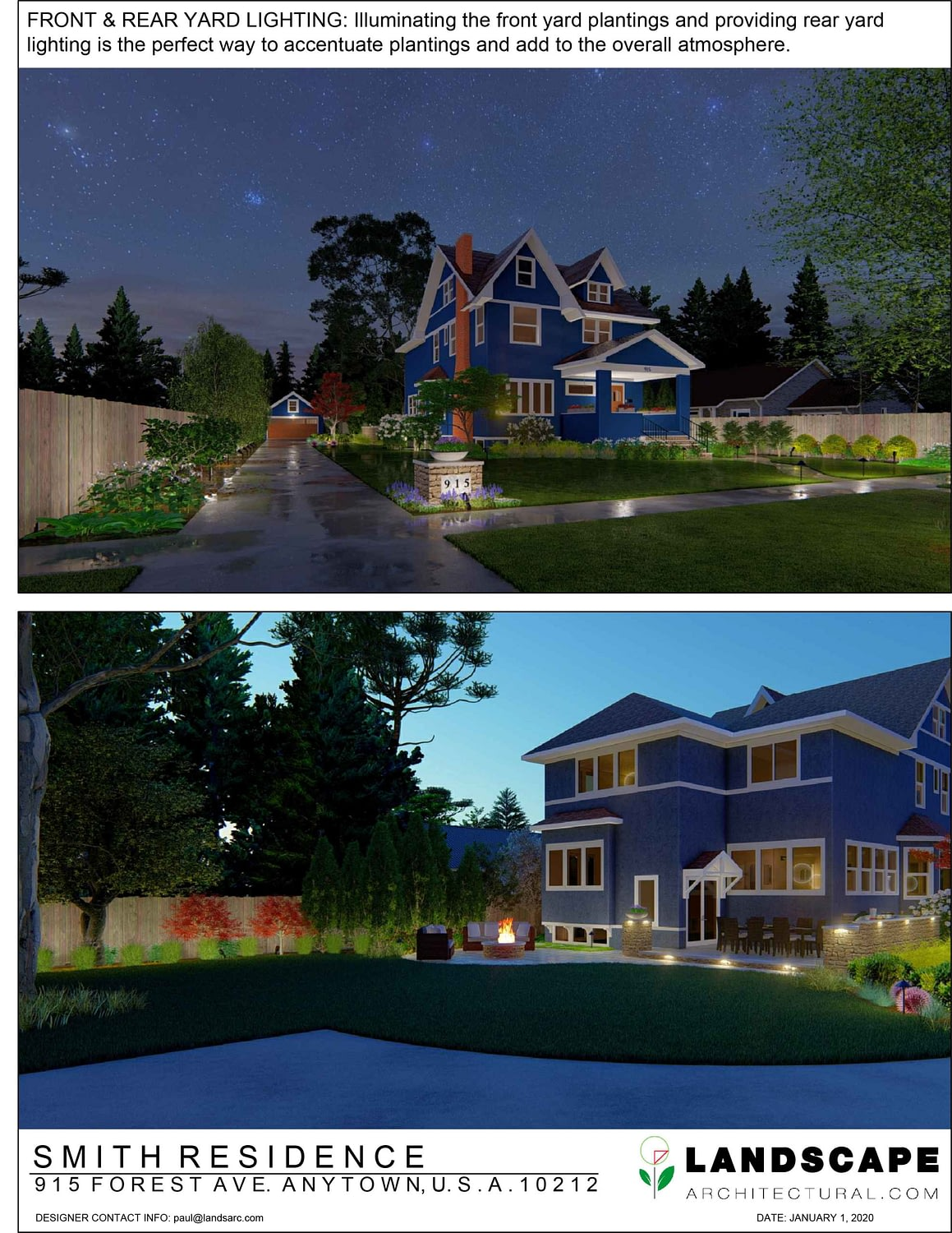 Front and Rear Yard Lighting Page