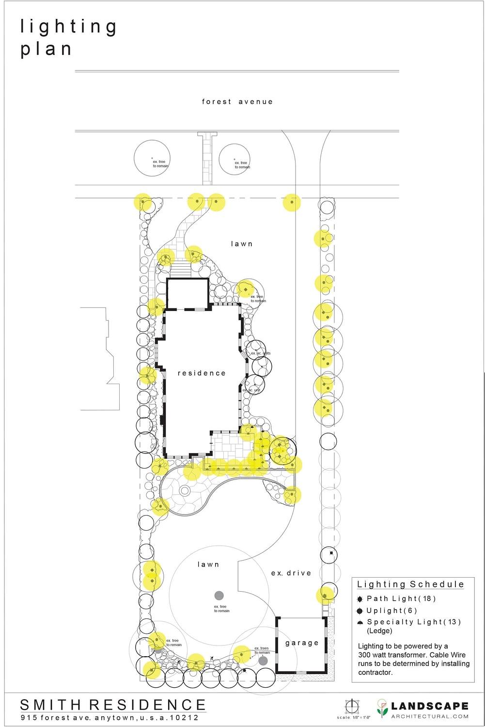 Lighting Plan Layout