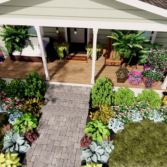 Front Yard Porch and Walkway