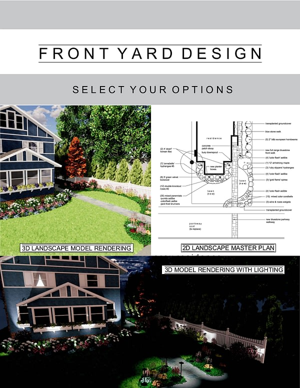 Front Yard Design Package