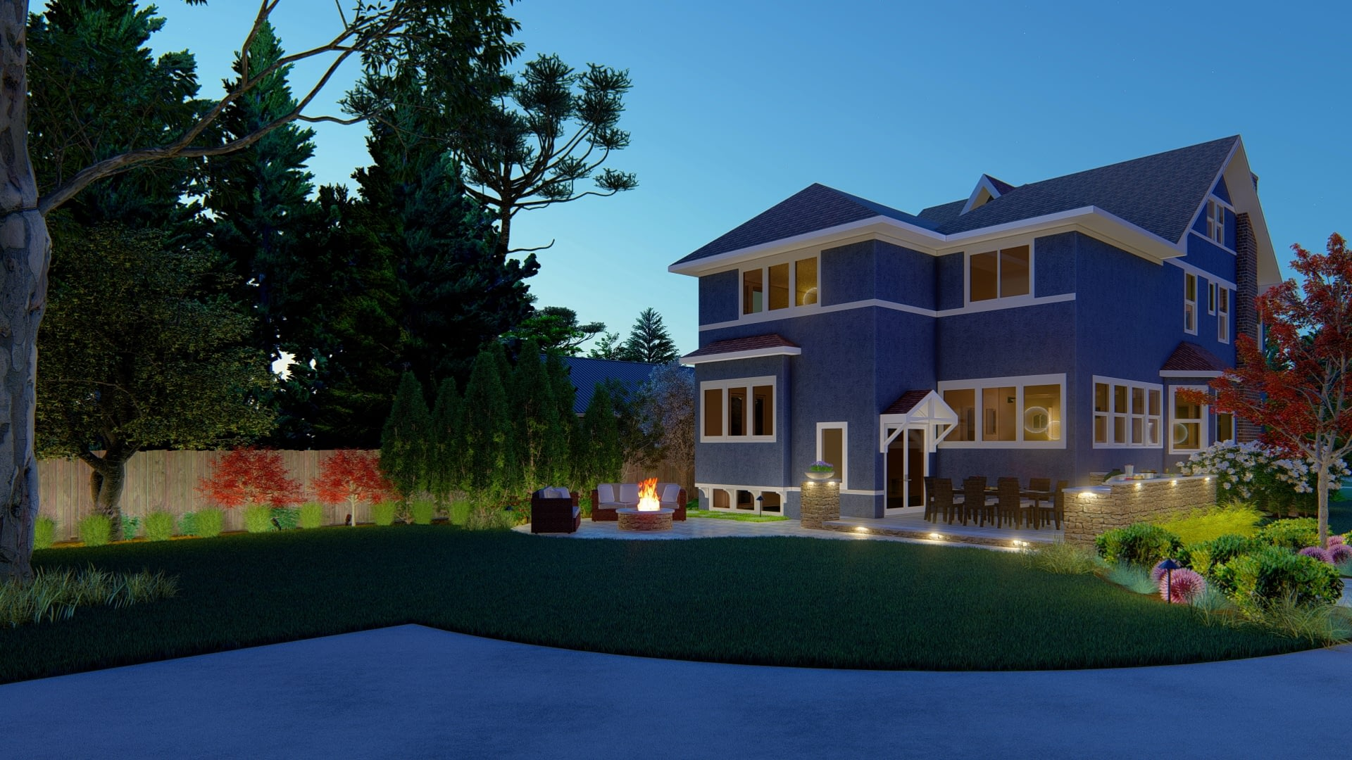 Rear Yard Outdoor Lighting and Design